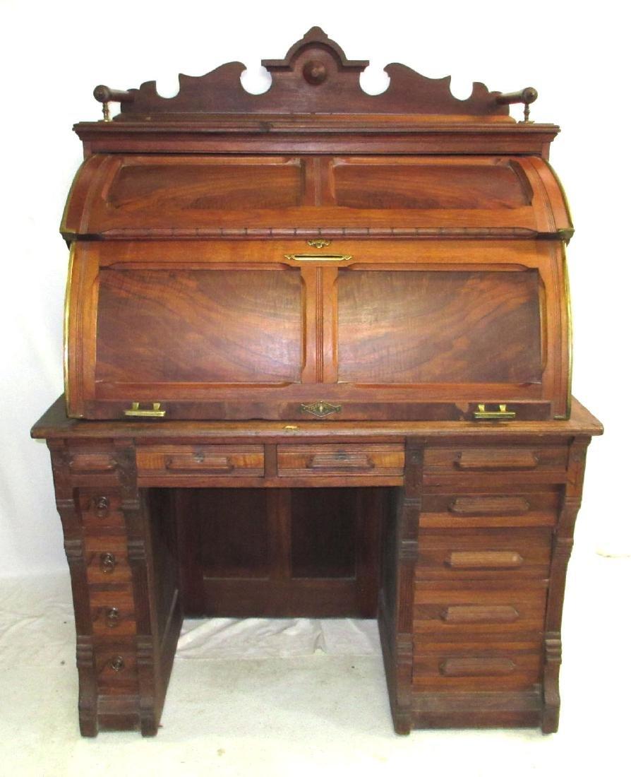 Unusual Victorian Tyler Cylinder Desk