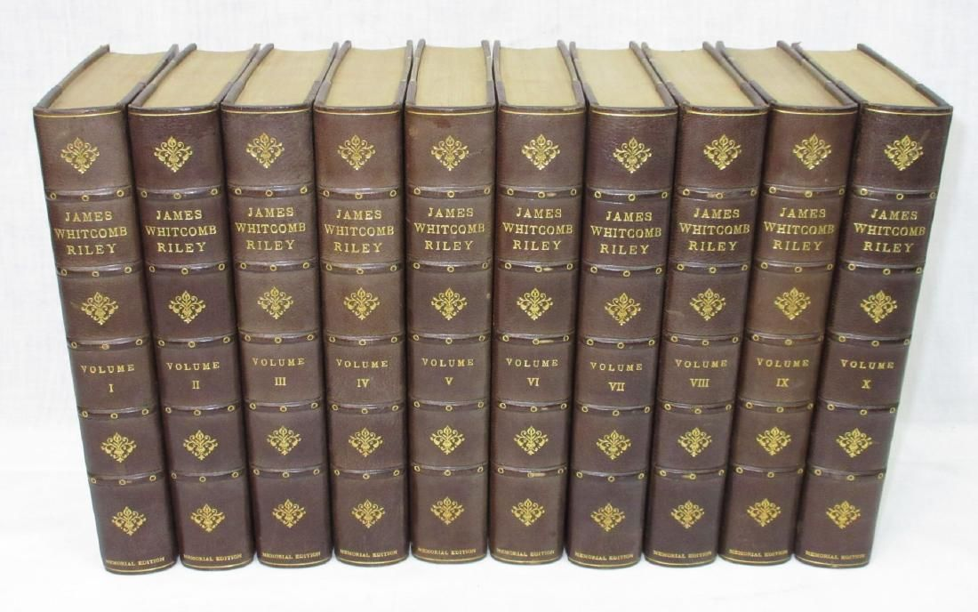 1916 10 Vol. Set of Leather Bound Books