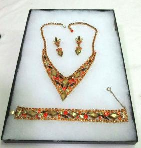 Juliana 3pc Necklace Set - Gold Givre