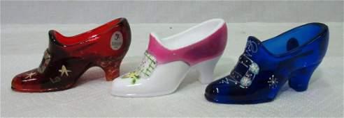 3 Fenton Glass Shoes