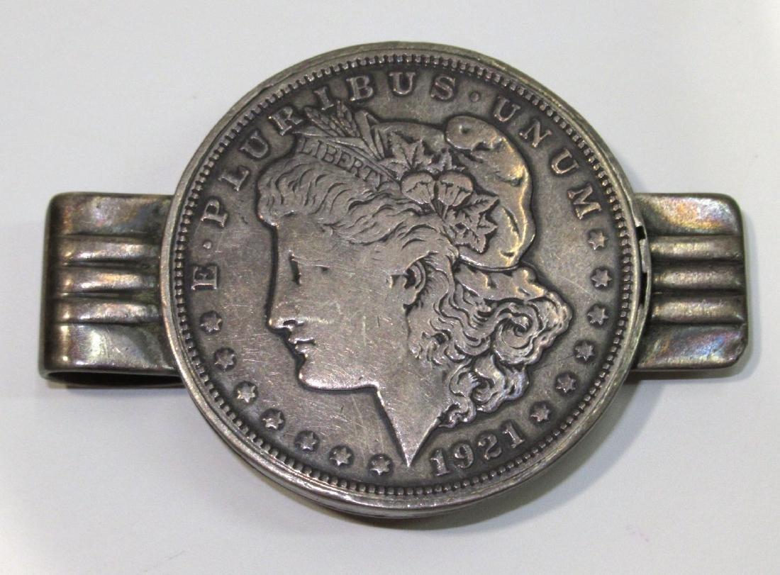 Sterling 1921 Silver Dollar Money Clip