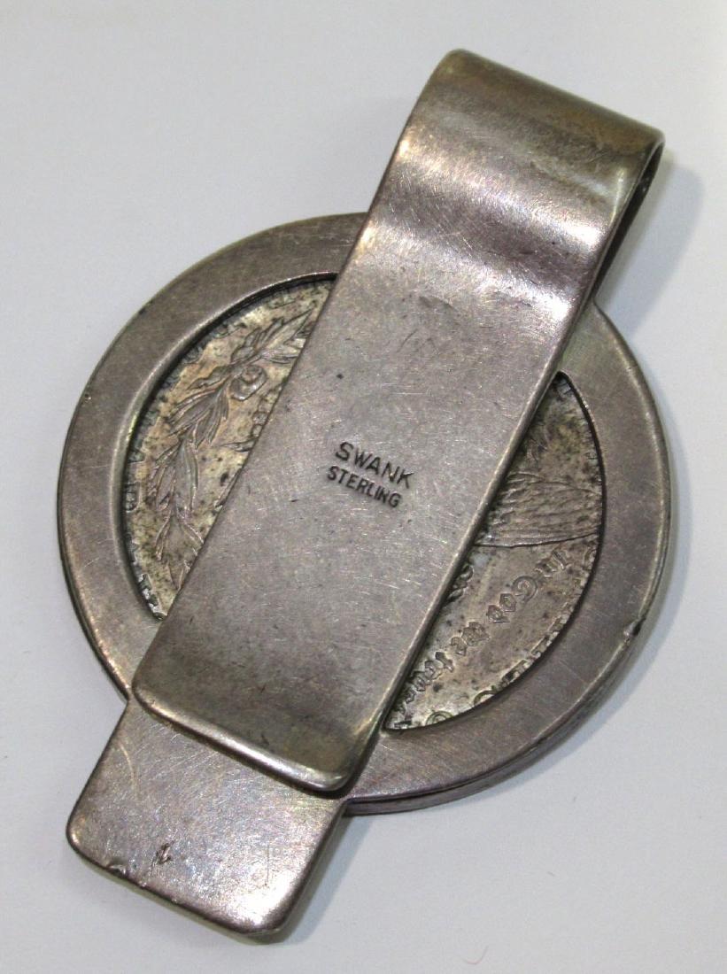 Sterling 1921 Silver Dollar Money Clip - 2