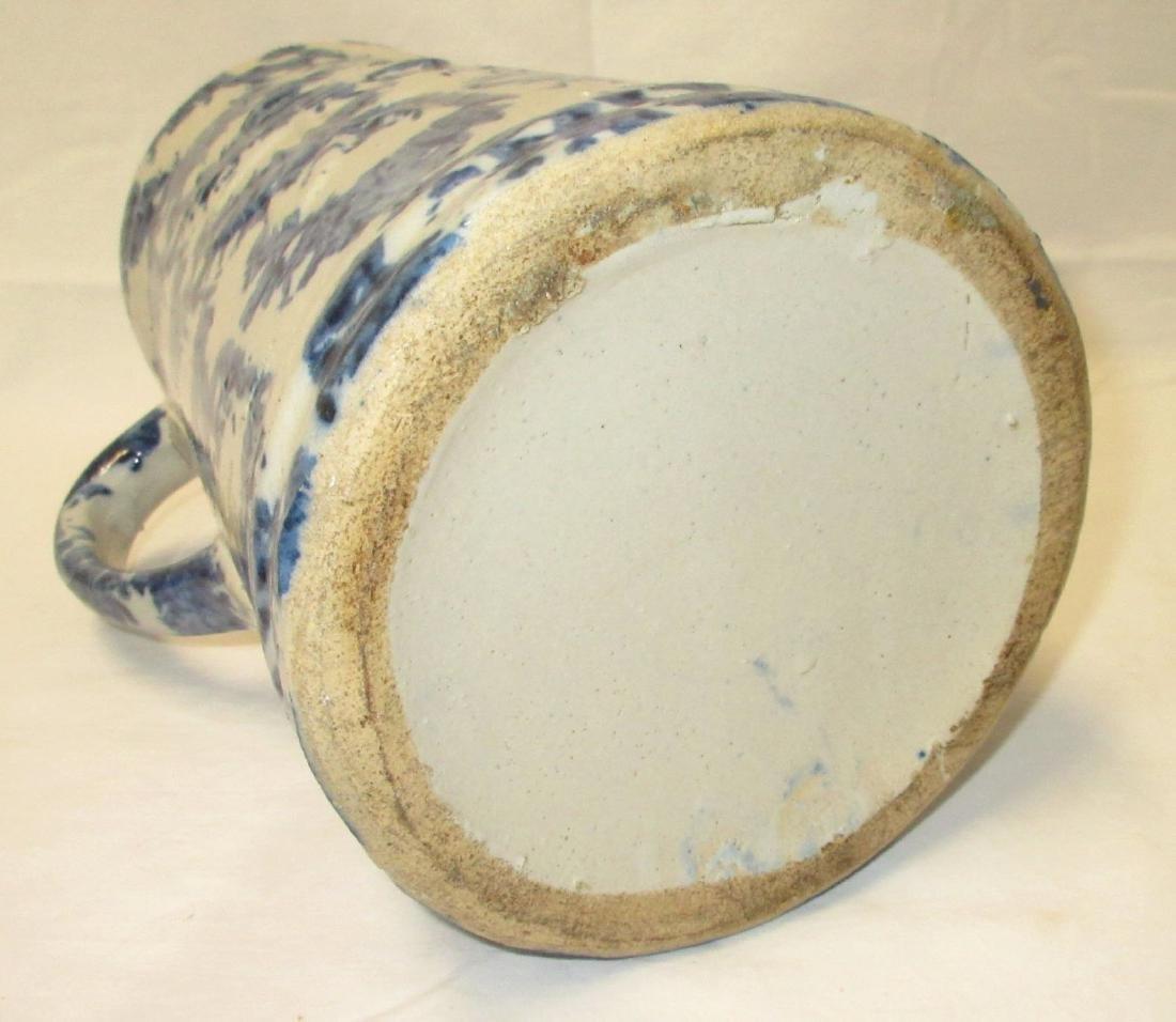 Blue Spongeware Pitcher - 4