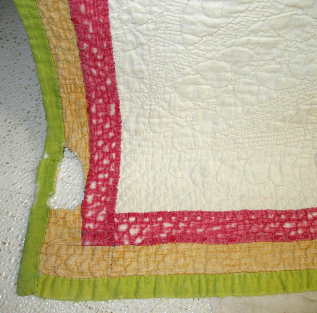 Early Appliqué Quilt w/ Great Quilting - 3