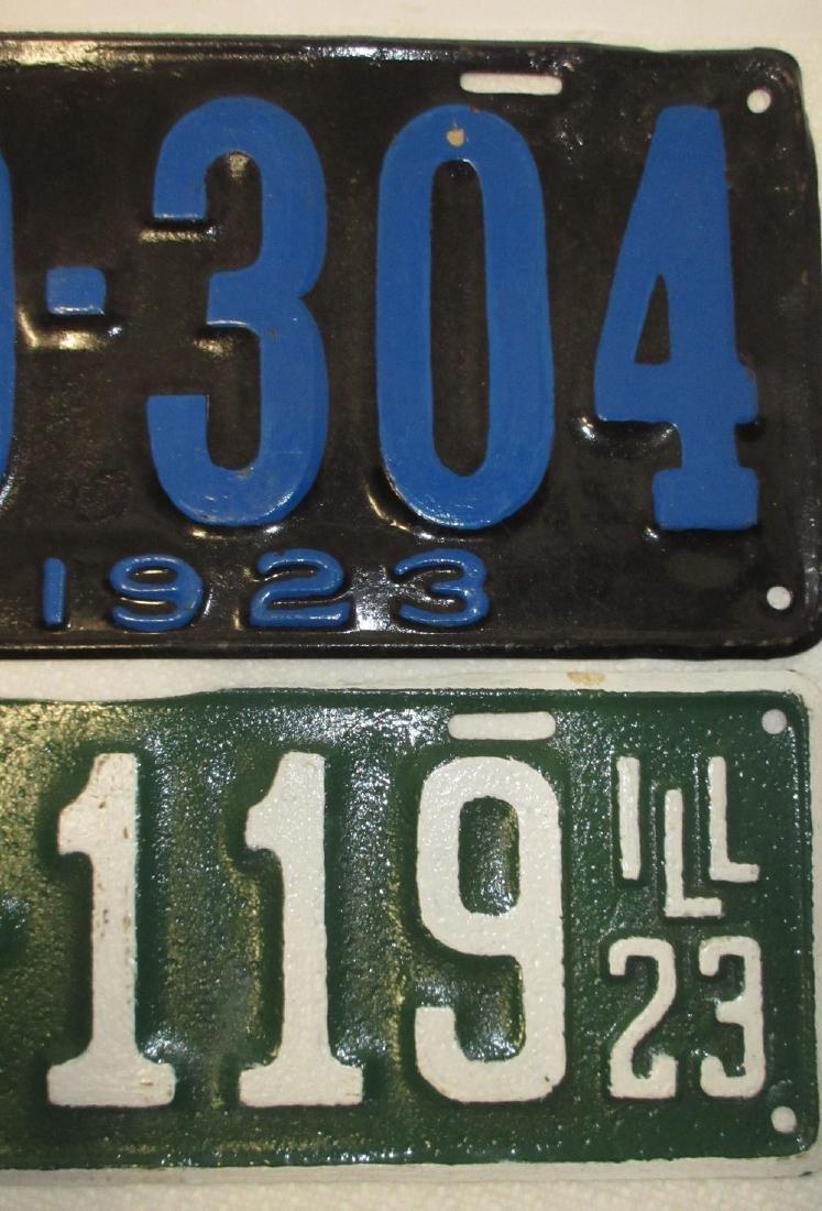 1923 IL & MO License Plates - 2