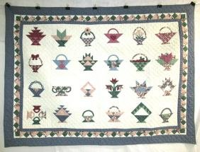 Small Basket Quilt, Never Laundered