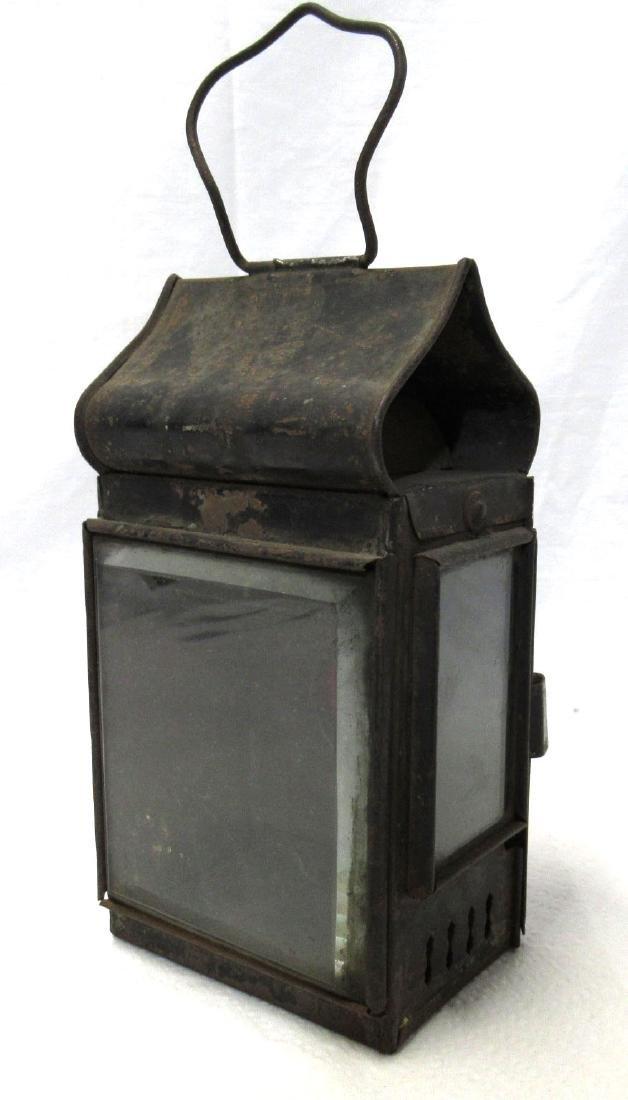 Tin Driving Candle Lantern