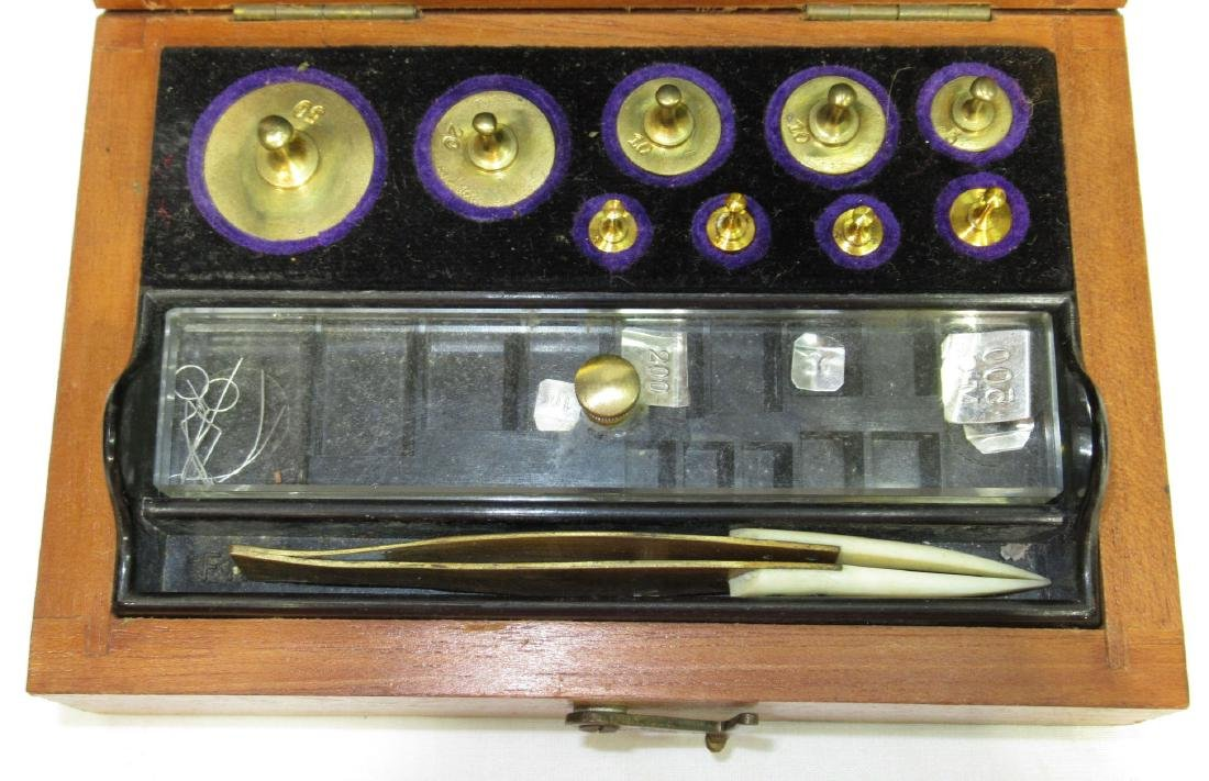 Set of Sargent & Co. Brass Scale Weights - 2