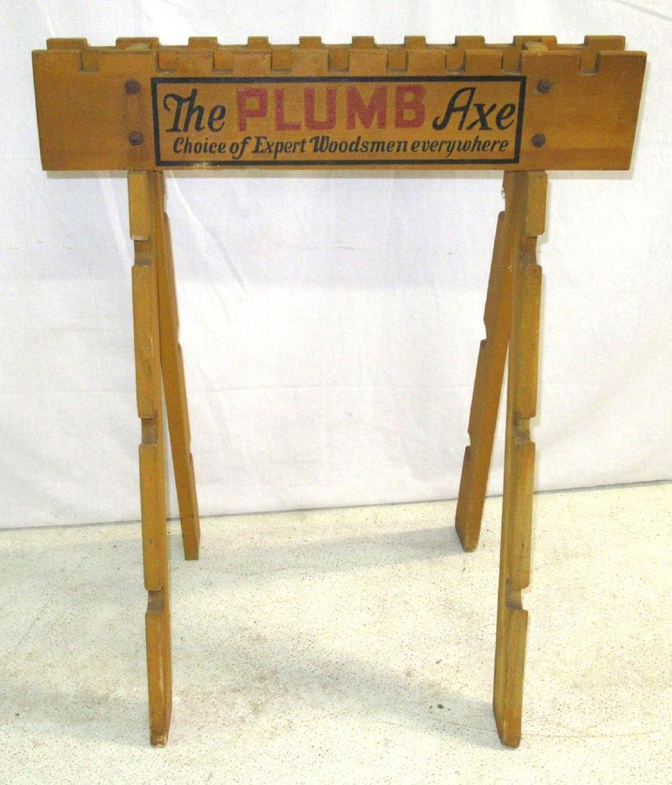 Plumb Axe Wooden Store Rack