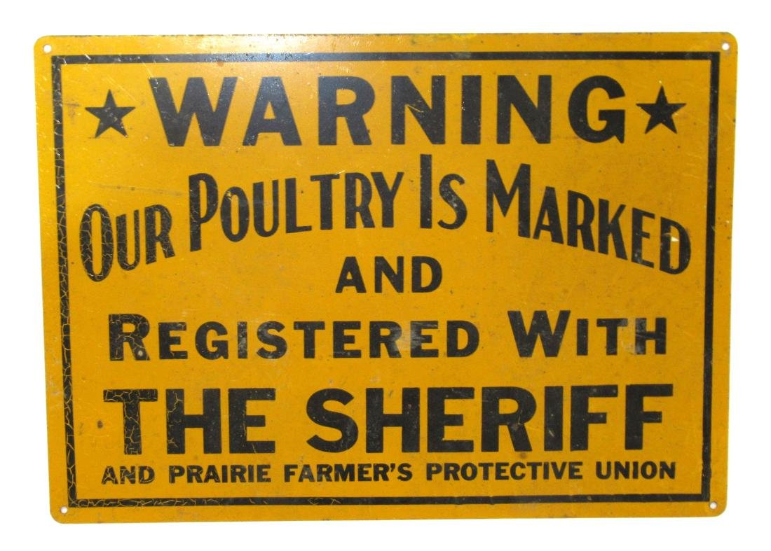 Tin Poultry Sign