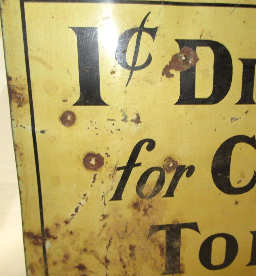 Tin 1 Cent Discount Sign - 3