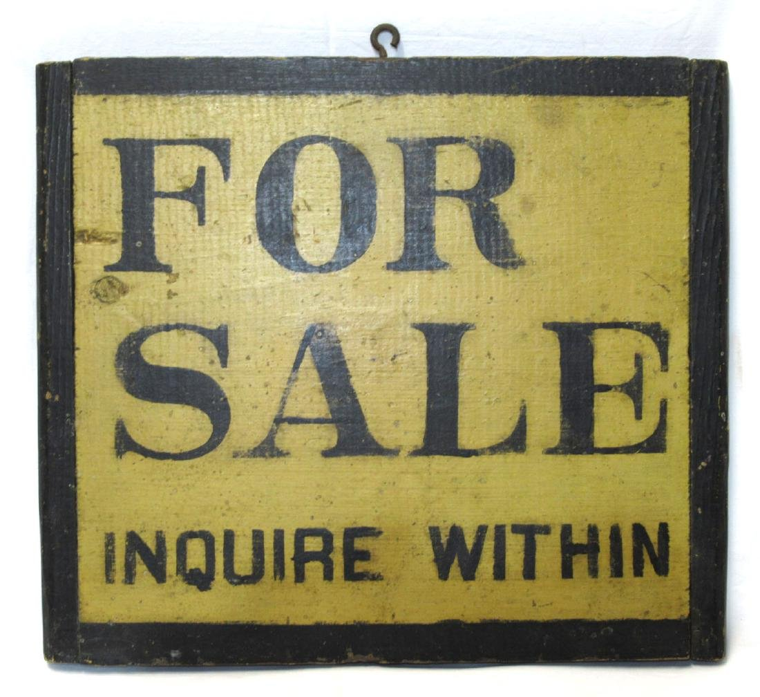 "H.P. Wooden ""For Sale"" Sign"