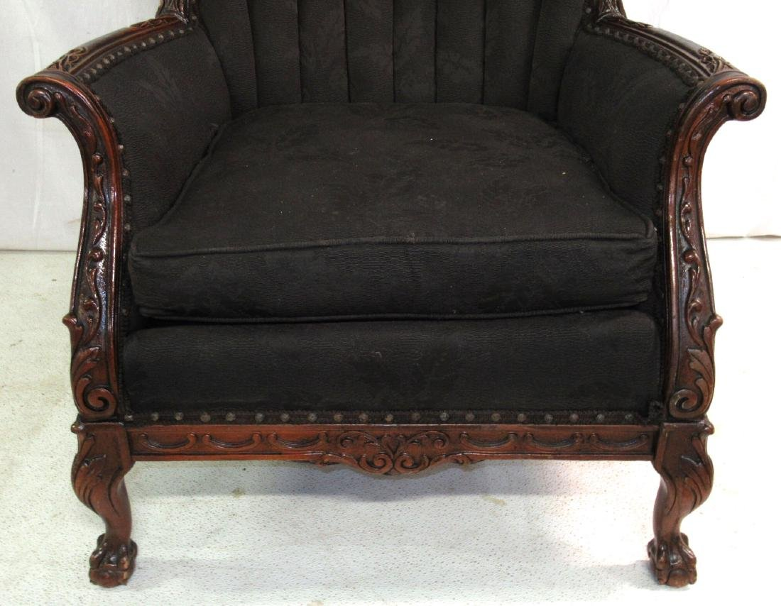 Carved Upholstered Chair - 2