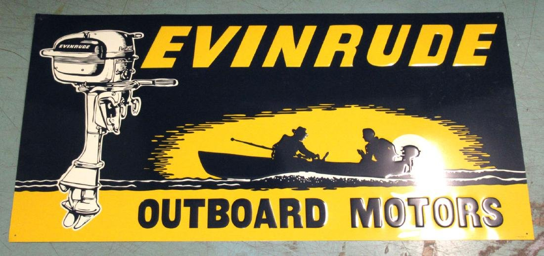 N.O.S. Evinrude Outboard Motors Sign
