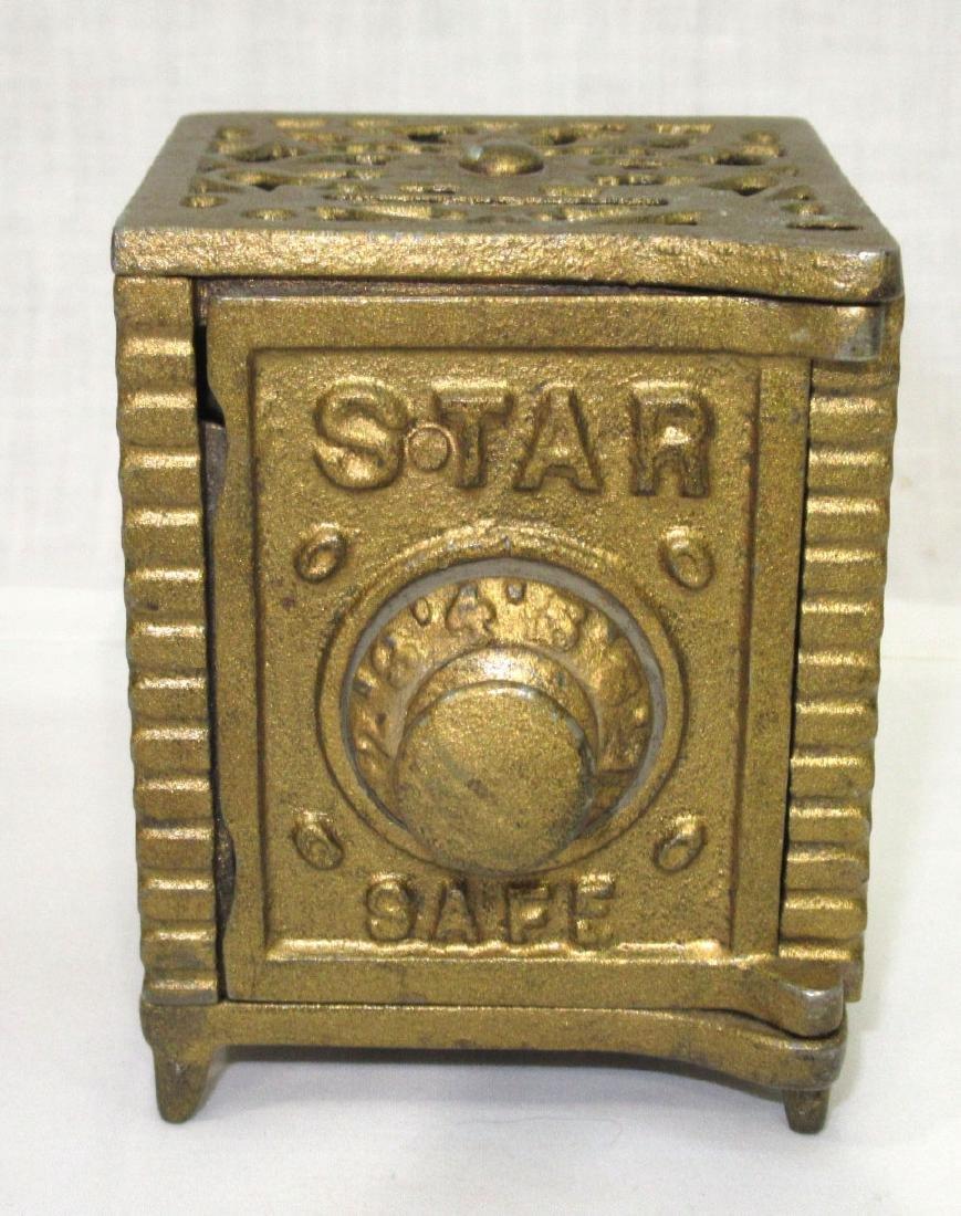 Antique Cast Iron Safe Bank