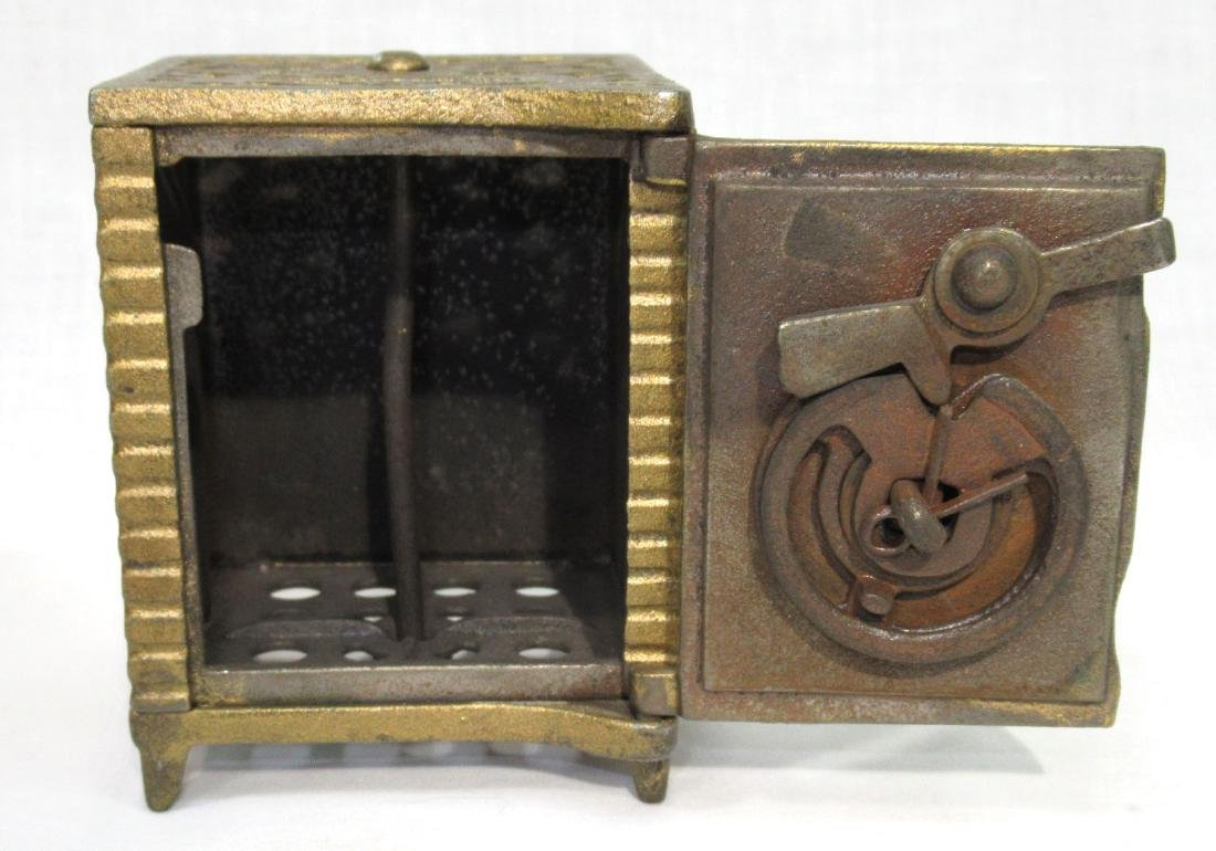 Antique Cast Iron Safe Bank - 2