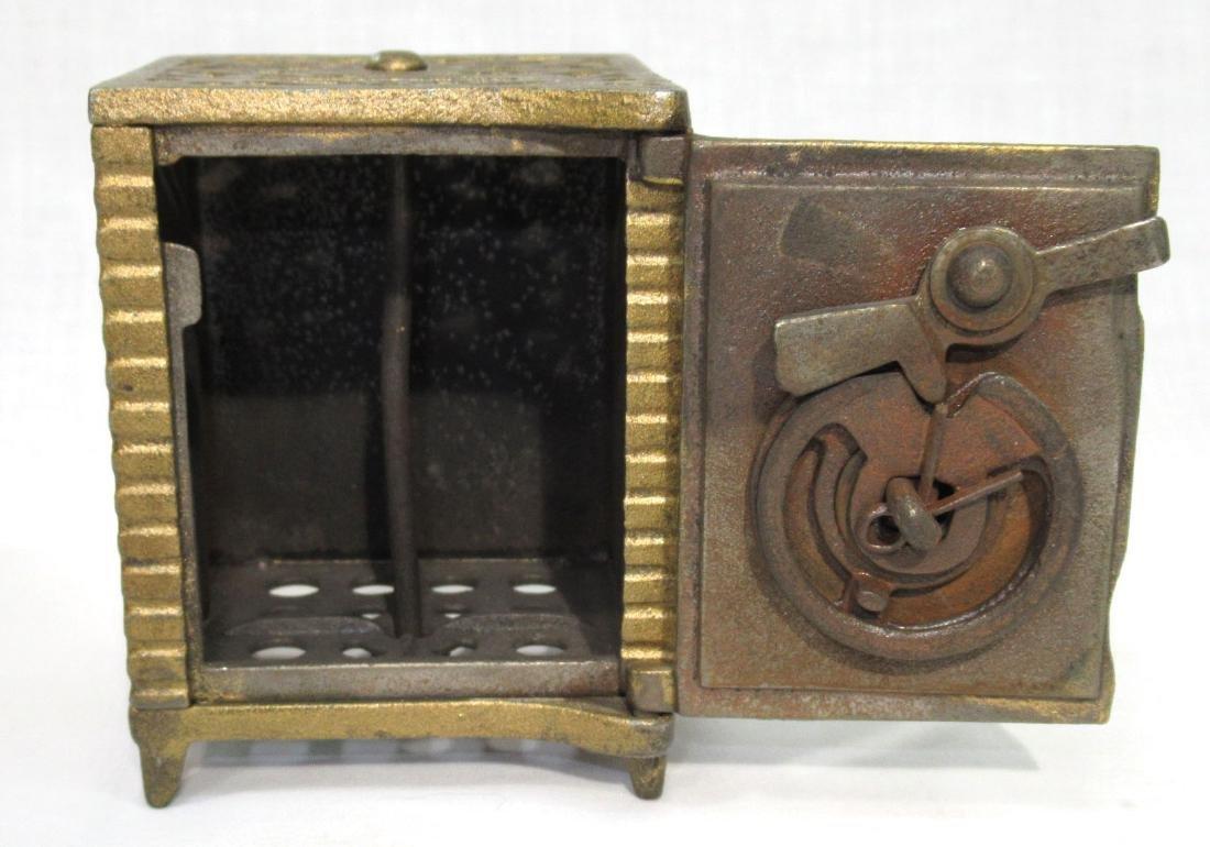 Antique Cast Iron Safe Bank - 2