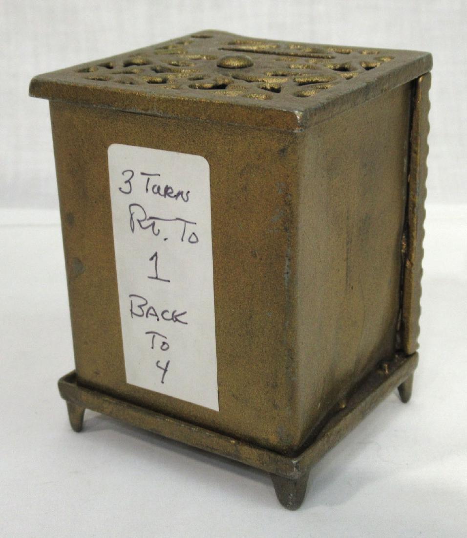 Antique Cast Iron Safe Bank - 3