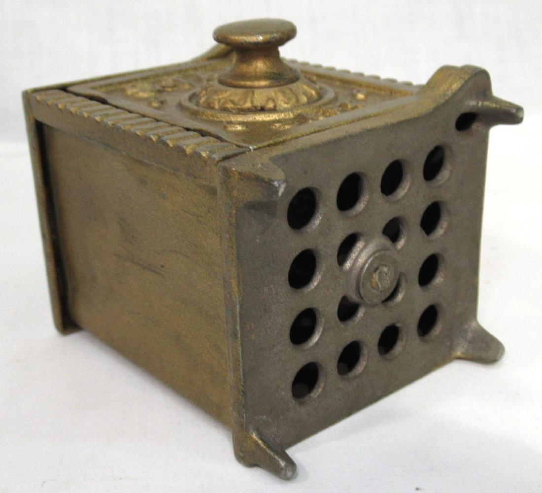 Antique Cast Iron Safe Bank - 4