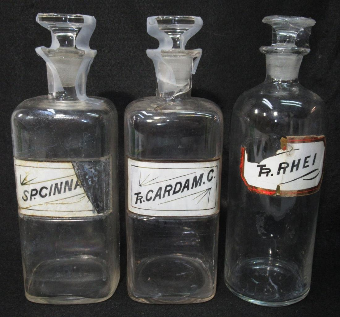 6 Glass Pharmacy Bottles - 2