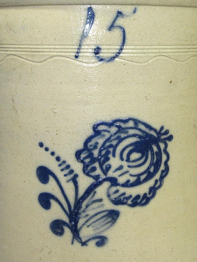 15 Gal. Decorated Stoneware Crock - 2
