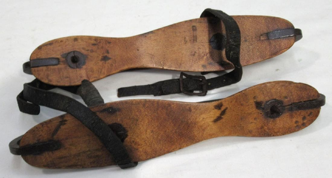 Pr. Early Wood & Iron Ice Skates - 2