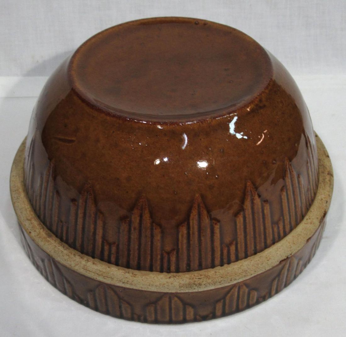 Brown Stoneware Bowl - 3