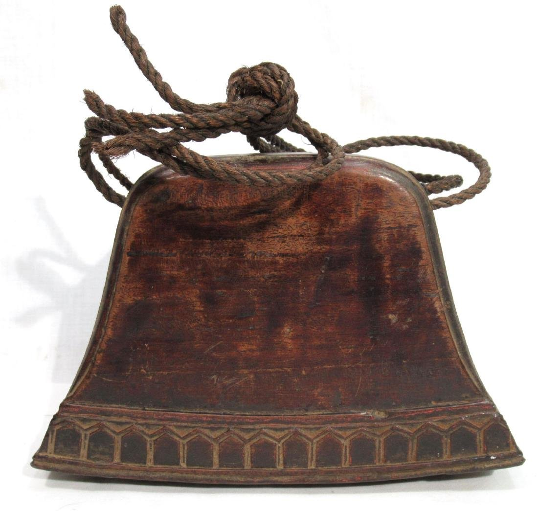 Early Wooden Cow Bell