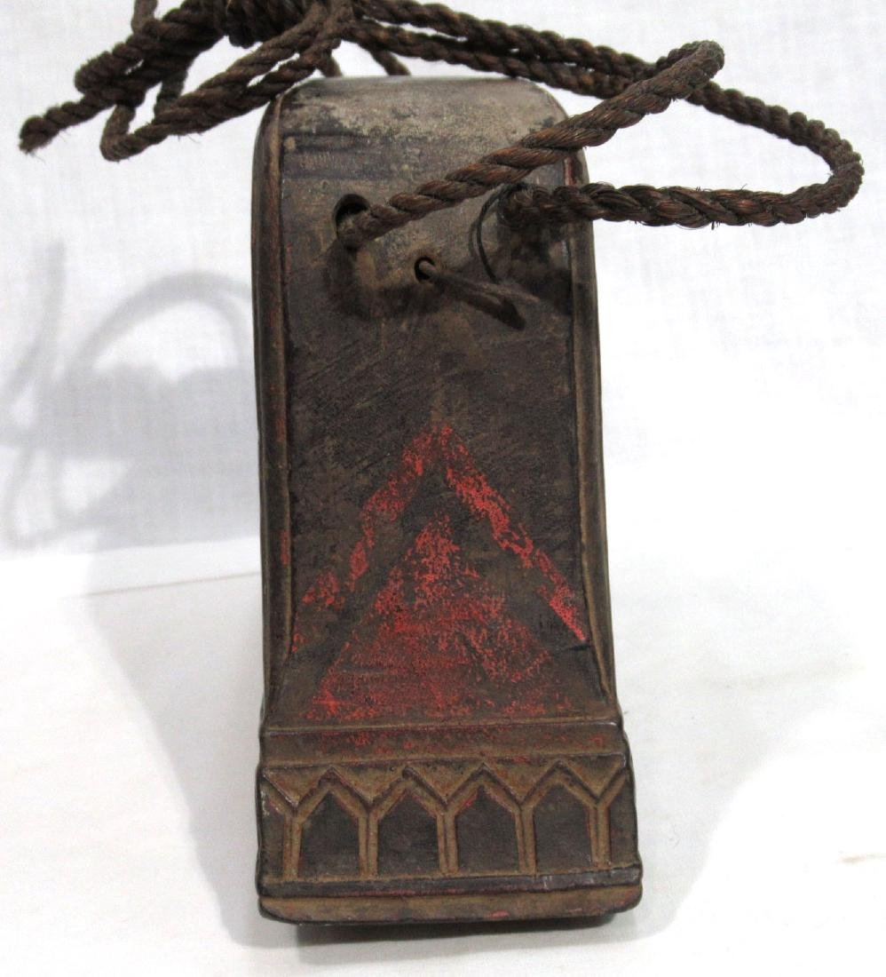 Early Wooden Cow Bell - 2