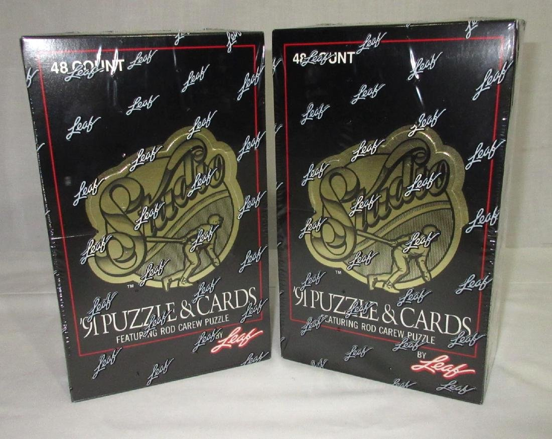 2 Factory Sealed Boxes 1991 Leaf Baseball Cards