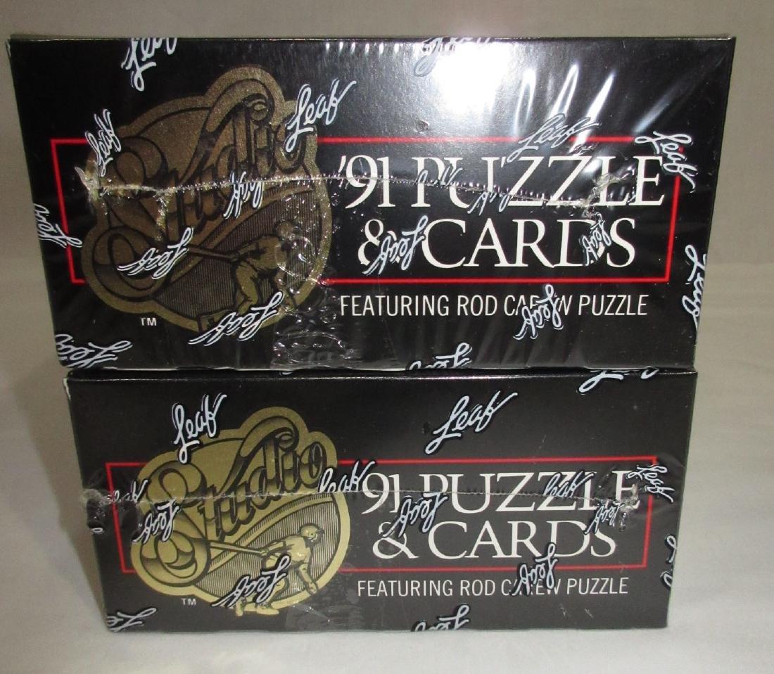 2 Factory Sealed Boxes 1991 Leaf Baseball Cards - 2