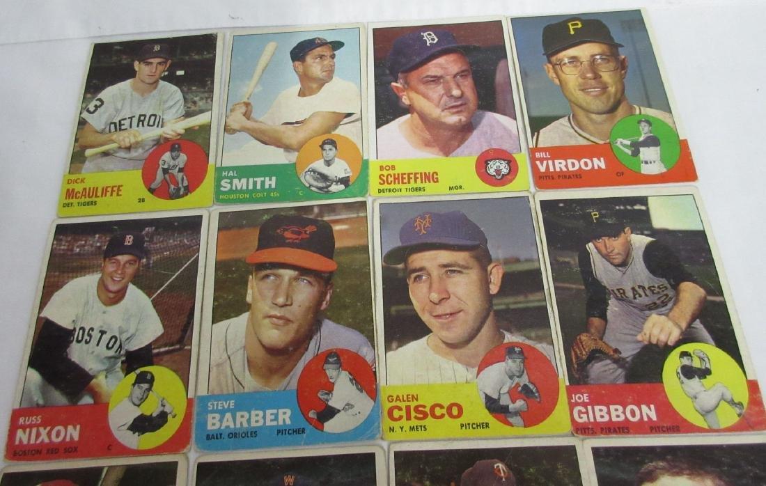 16 Topps 1963 Baseball Cards - 2