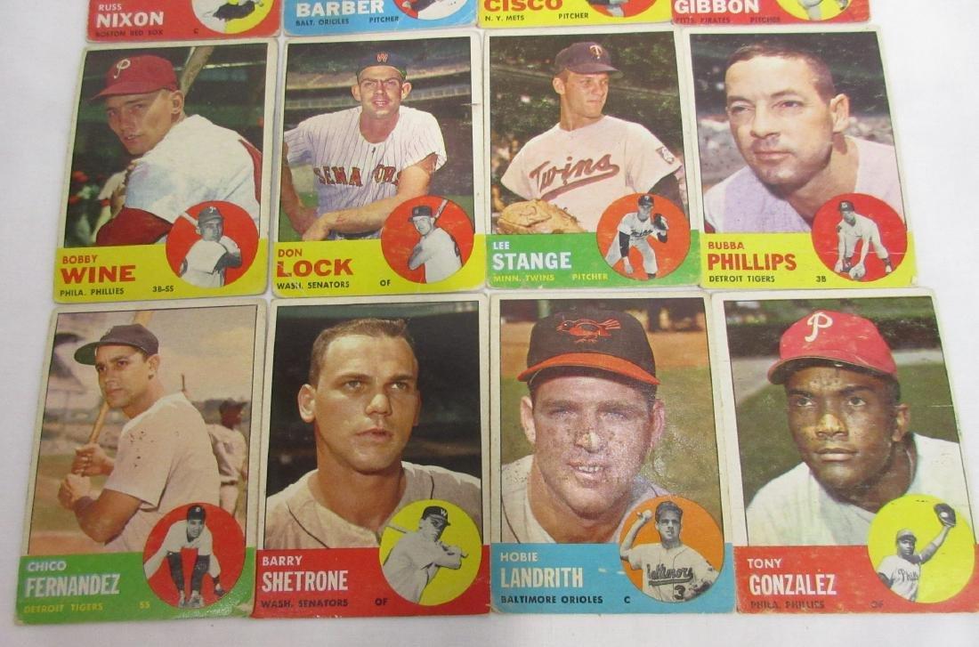 16 Topps 1963 Baseball Cards - 3
