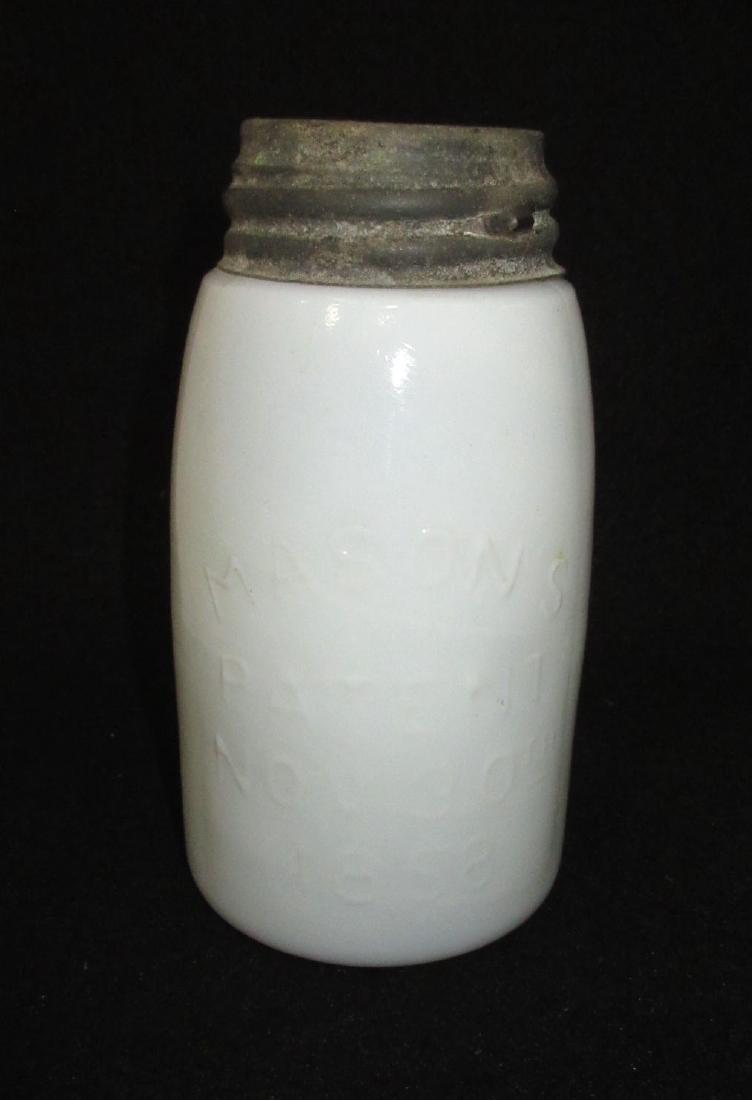 Milk Glass Mason's Fruit Jar
