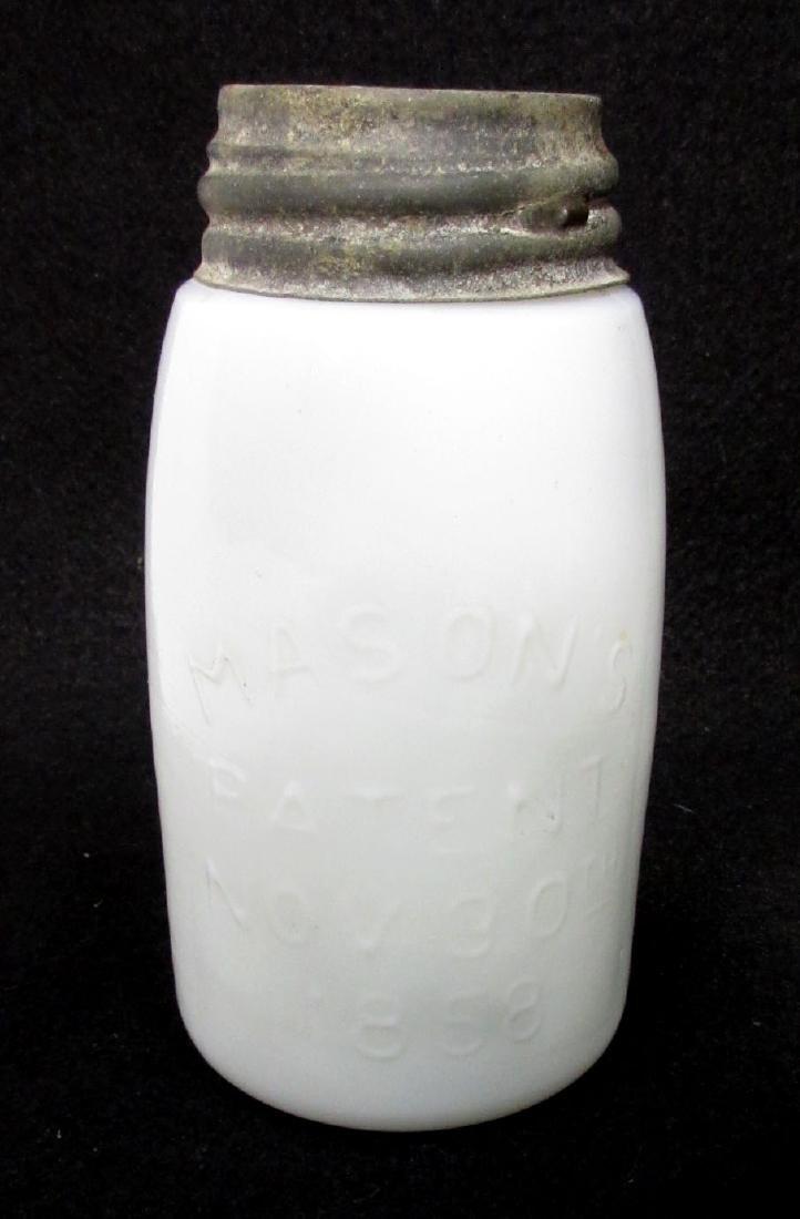 Milk Glass Mason's Fruit Jar - 2