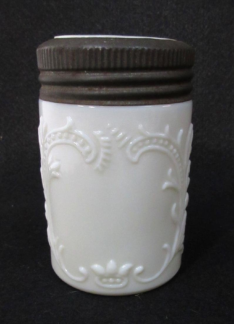 Milk Glass Jar & Lid
