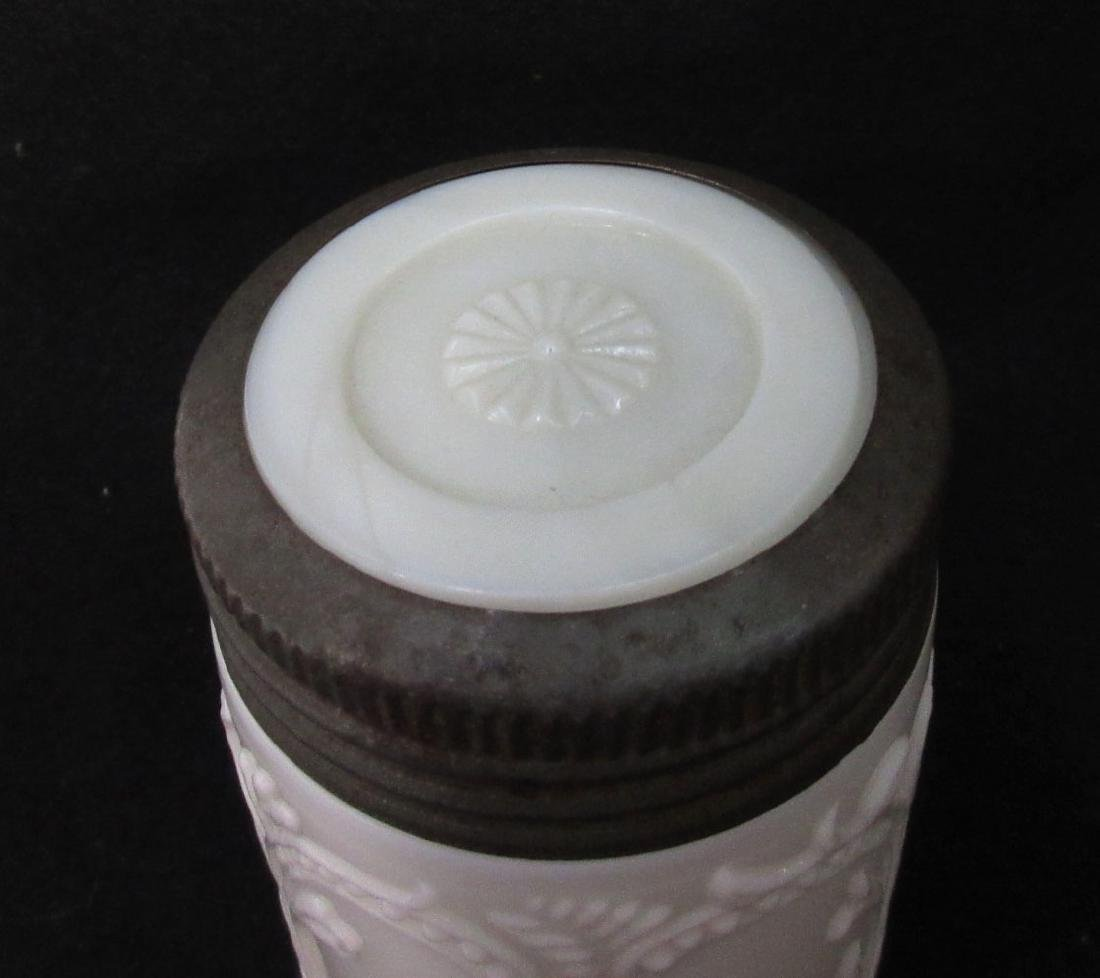 Milk Glass Jar & Lid - 3