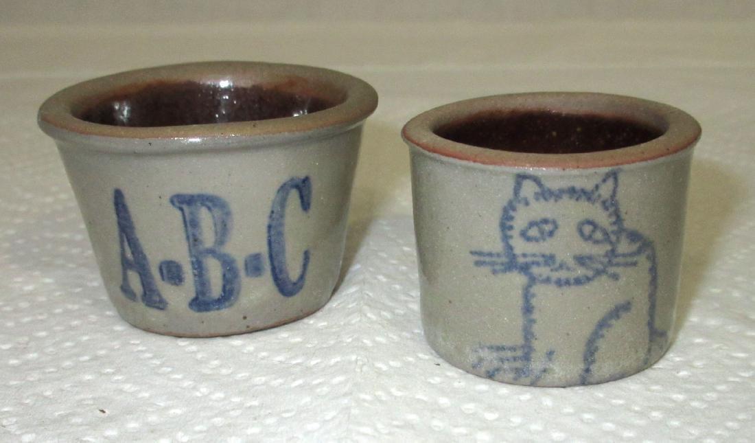2 Stoneware Children's Toy Bowls