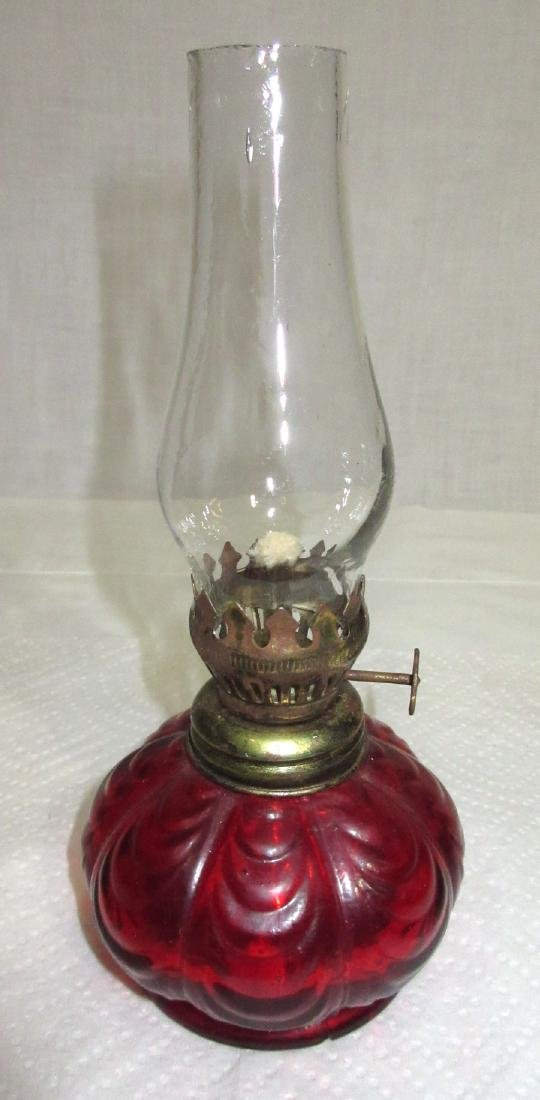 Ruby Miniature Oil Lamp
