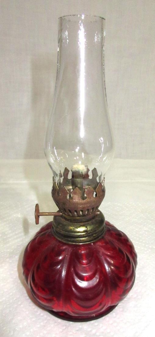 Ruby Miniature Oil Lamp - 2