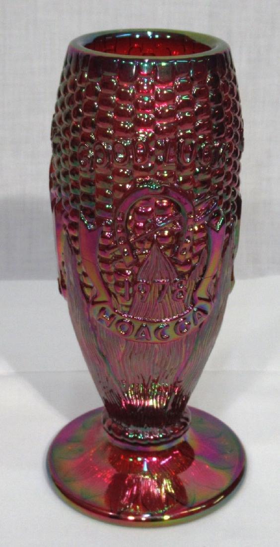 Carnival Glass Corn Vase
