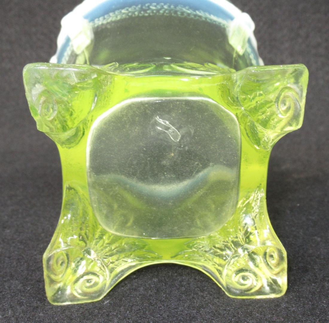 Vaseline Opalescent Spooner - 3