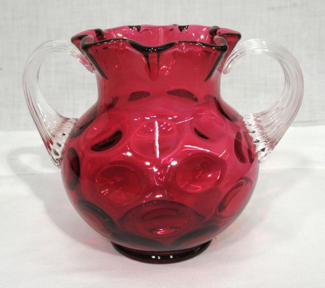 Thumbprint Cranberry Vase