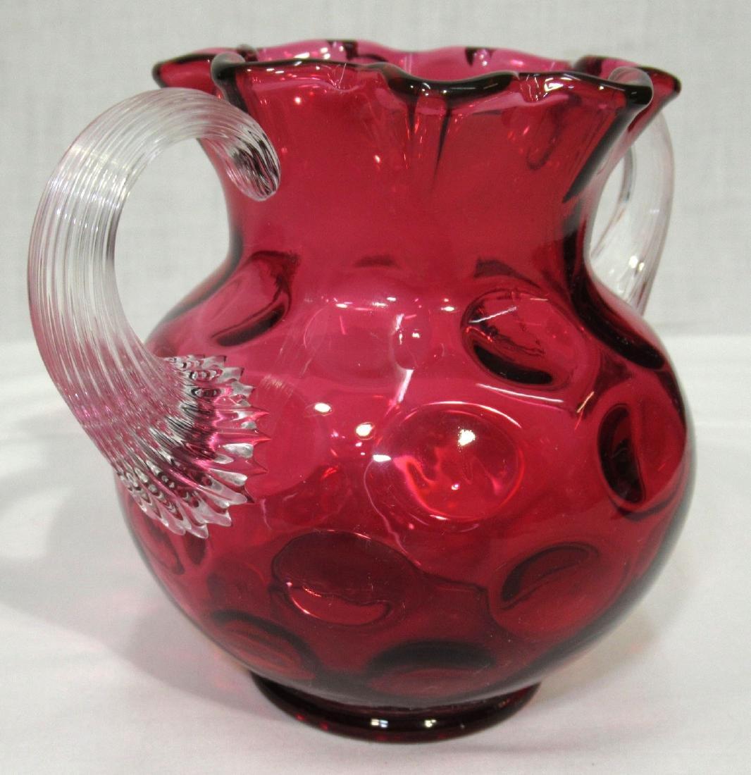 Thumbprint Cranberry Vase - 2