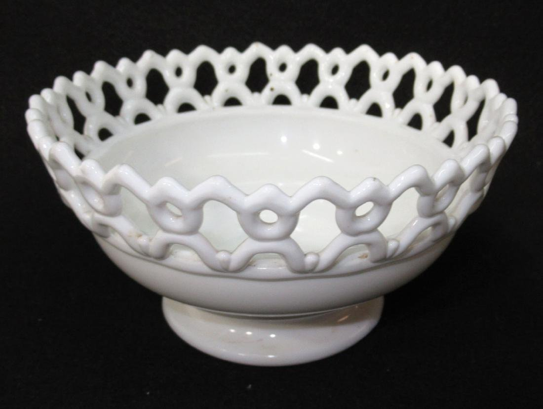 Early Milk Glass 3 Fishes Dish - 2
