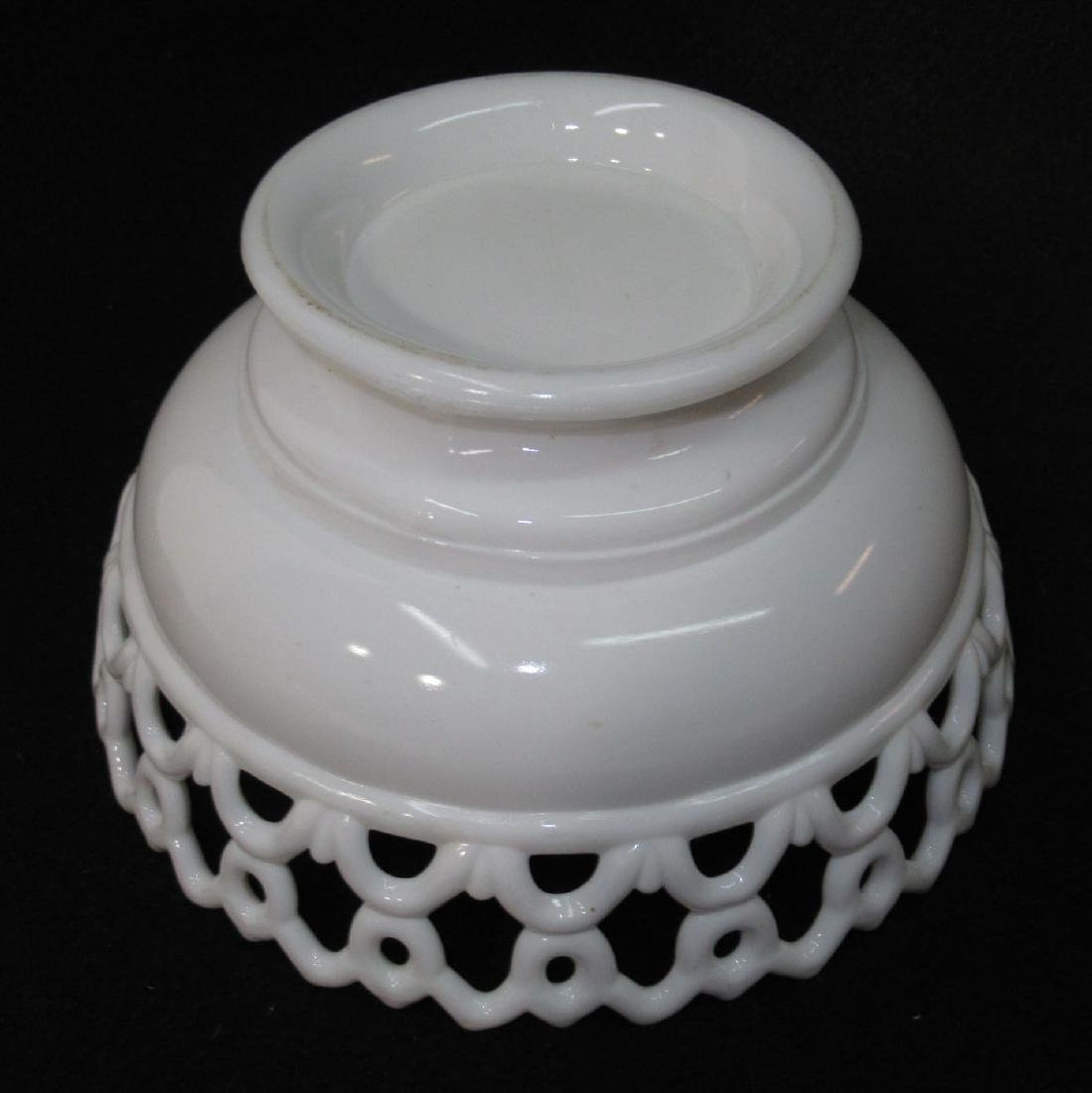 Early Milk Glass 3 Fishes Dish - 5