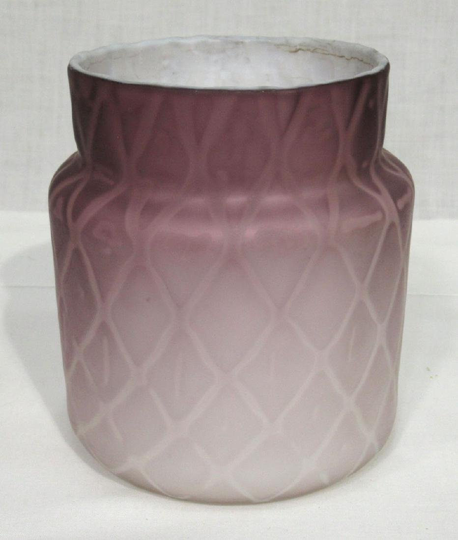 Lavender Diamond Quilted MOP Vase