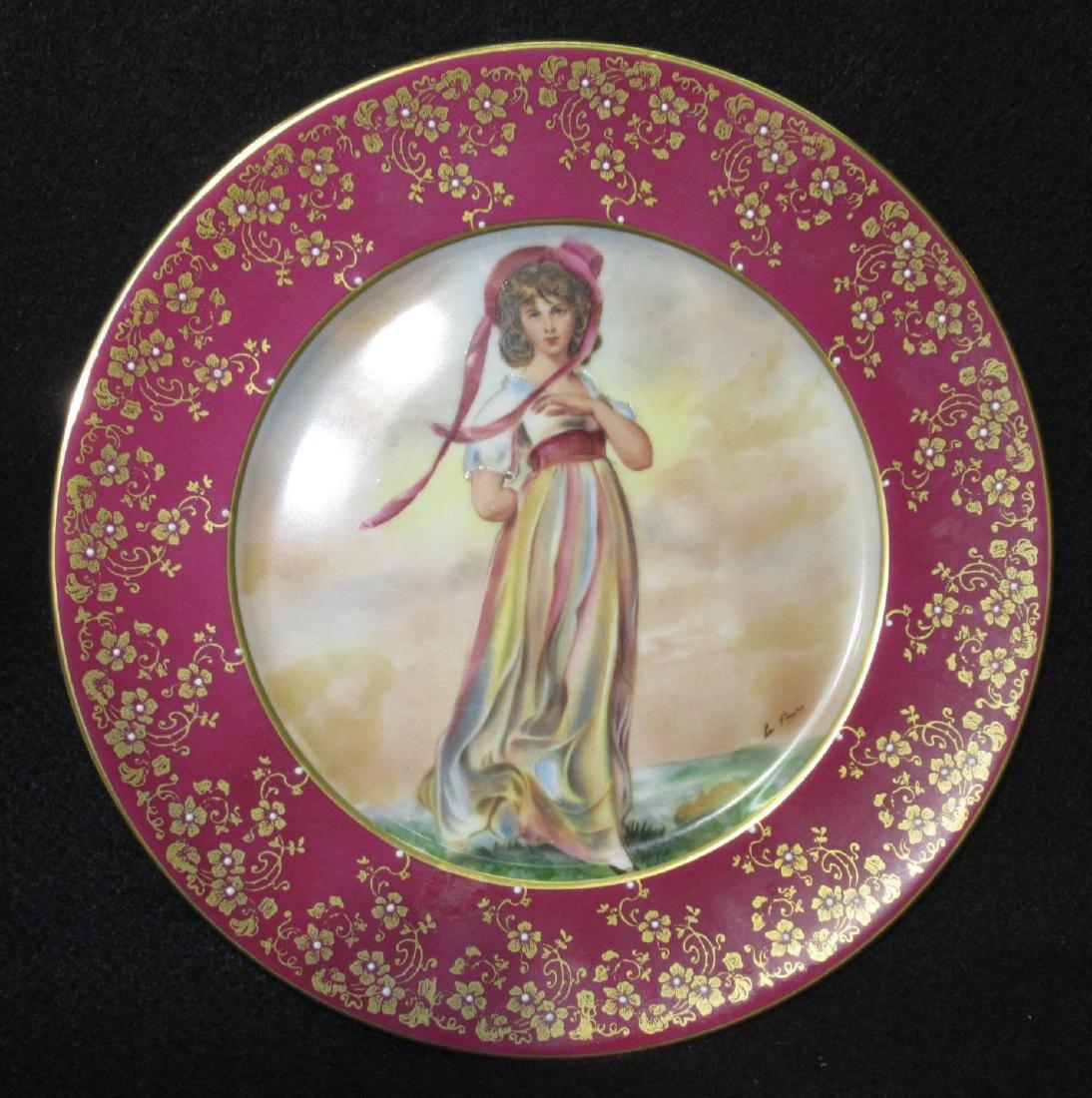 "H.P. Portrait Plate ""Pinky"" Artist Sgnd"