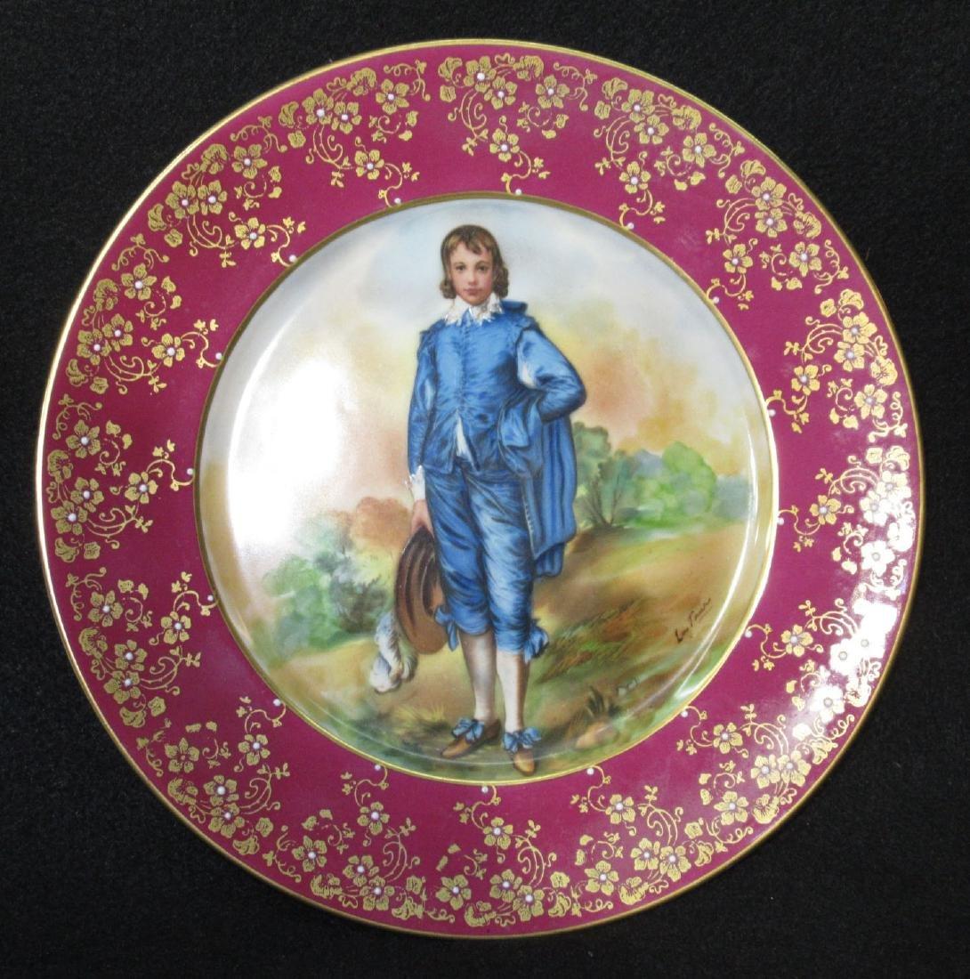"""H.P. Portrait Plate """"Blue Boy"""" Artist Sgnd"""