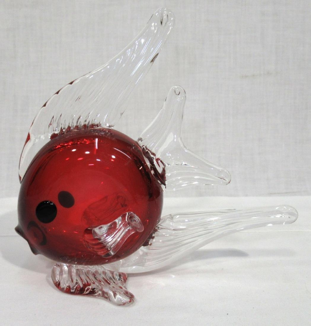 Art Glass Fish Paperweight